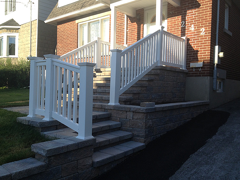 Interlock Stairs project in Ottawa