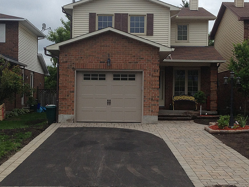 Small Driveway Interlock Paving And Landscaping Greyrock Paving